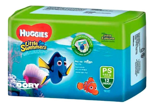 Pañales Huggies Para El Agua Little Swimmers Talle P X 12 U