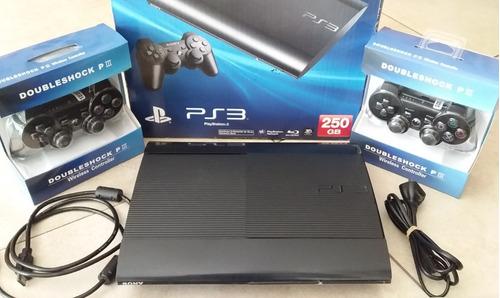 Play 3 250gb + 2 Joyst Nuevos + Juegos Gratis + Envio