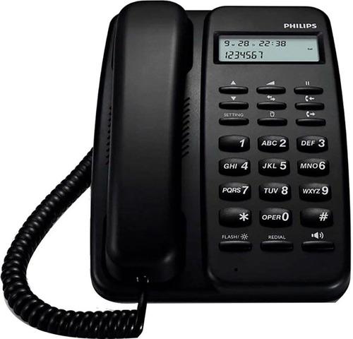 Telefono Fijo Crd150b/77 Negro Philips