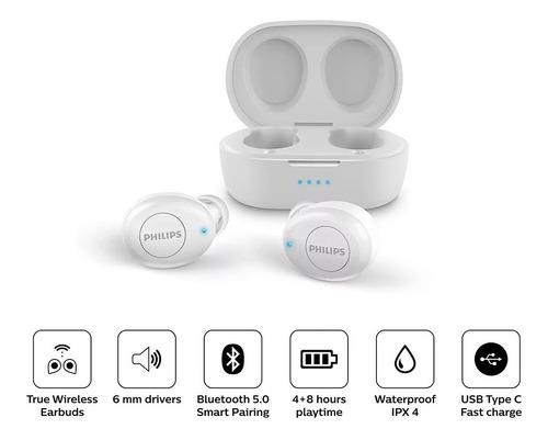 Audifonos Bluetooth Tws Philips Tat2205 Con Carga Rapida