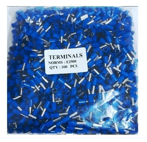 Terminales Tipo Ferrule 100 Unidades  2.5mm , 14 Awg