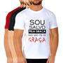 Kit 6 Camiseta Religiosa Blusa Camisa Jesus Moda Evangélica Fé Deus Cristã Gospel Yeshua 100% Algodão Jovem Igreja Original