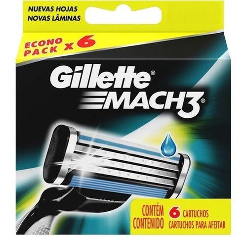Gillette Mach3 Repuestos De 6 Cartuchos