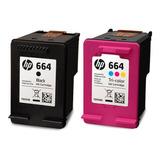 Pack Original De Tinta Negra Y Color Hp 664 Advantage
