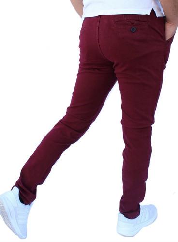 Pantalon Skinny De Gabardina Strech John Silver Para Hombre