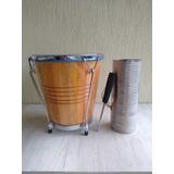 Combo Caja Vallenata Madera+ Forro+guacharaca+trinche+envio