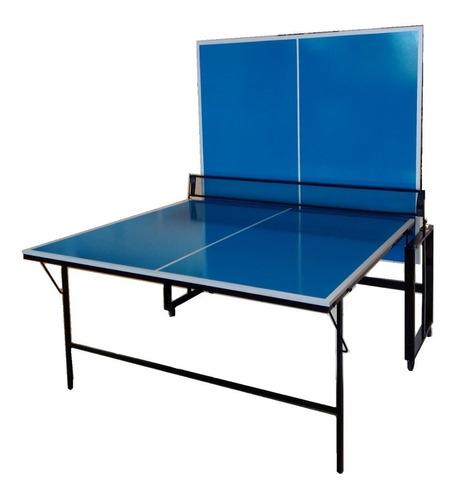Mesa Ping Pong 15mm Profesional Fronton Plegable Ruedas Red
