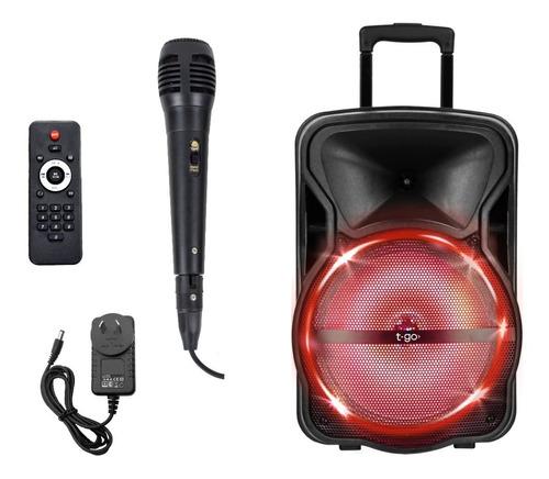 Parlante Bluetooth Radio Portátil 4500wts + Microfono Regalo