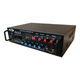Consola Potenciada Av-020bt Con Usb Sd Amplificada Bluetooth