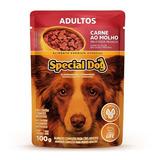 Special Dog Carne Ao Molho Ração Úmida Sachê 100g