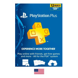 Tarjeta Playstation Plus 12 Meses - Playstation Plus 1 Año