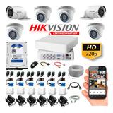 Cctv Hikvision Kit Dvr 8 Ch + 6 Cám+ Disco Duro 1t + Todo