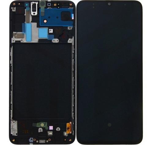 Pantalla Para Samsung A70 Con Marco + Mica Regalo - Dcompras