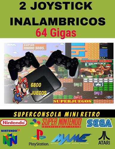 Mini Retro Emuelec  Hdmi 6800 Juegos 2 Joysticks Usb