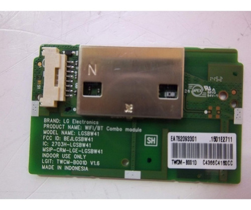 Módulo Wifi Tv LG Lgsbw41 Eat62093301 Twcm B001d LG 55uf6800