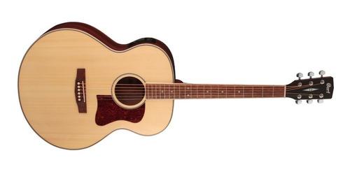 Guitarra Electroacústica Cort Cj-medx-nat Con Funda Y Envío