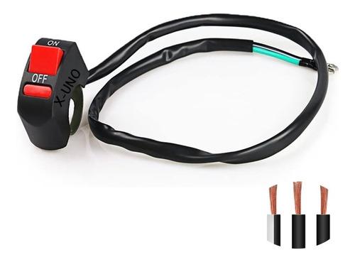 Moto Auxiliar Interruptor 3 Cables Intermitentes Leds Faros