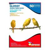 Papel Doble Faz Glossy Brillante A4 De 150gr/50 Hojas
