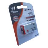 Bateria 9v Recargable 250mah Extra Duración Netmak Nm250m