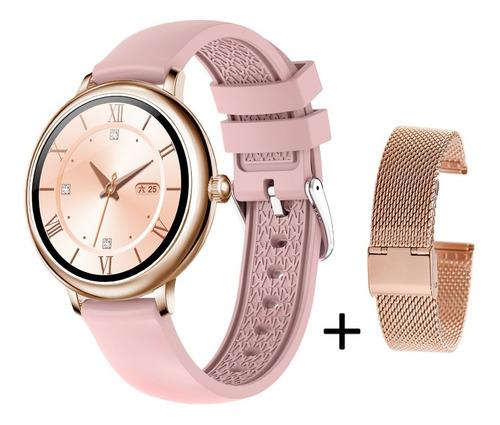 Smartwatch Cf80 Reloj Inteligente P/ Samsung iPhone Mujer