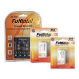 Combo 2 Bateria Recargable 9v 250mah + Cargador De Pilas