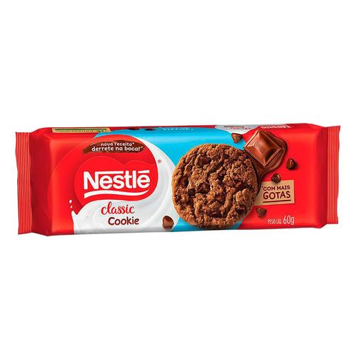 Biscoito Nestlé Classic De Chocolate Com Gotas De Chocolate Ao Leite 60 G