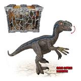 Muñeco Dinosaurio Con Jaula 20cm