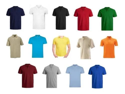 Camiseta Tipo Polo Color Hombre Caballero