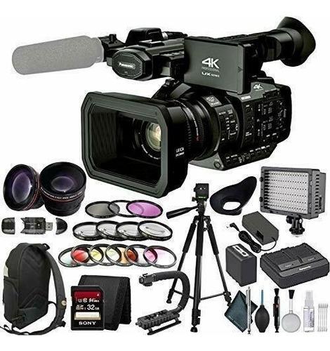 Panasonic Ag Ux90 4k Professional Camcorder +studio Bundle