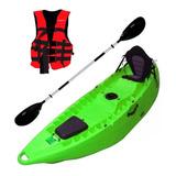 Kayak Poseidón 1 O 2 P + 1 Chaleco Y 1 Remo Pesca Travesía