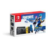 Nintendo Switch 32gb Fortnite Wildcat Bundle Color  Negro, Amarillo Y Azul