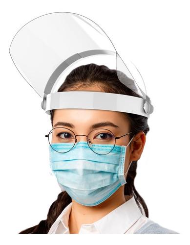 Máscara Facial Protetora Anti-cuspir Face Shield Articulada