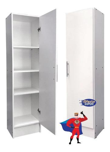 Despensero 1 Puerta 40x30x150 Cm Organizador Blanco Wengue @