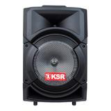 Bocina Kaiser Msa-5808 Portátil Con Bluetooth Negra