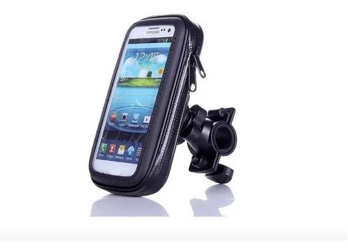 Soporte Funda Porta Gps Celular Moto Bici Impermeable Premiu