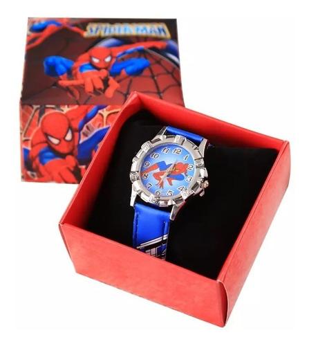 Reloj Spiderman Para Niños En Cajita.