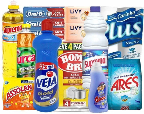 Cesta Higiene E Limpeza Produtos De Qualidade Doação Social