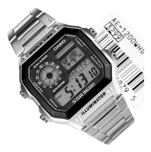 Reloj Casio Ae 1200whd Temporiza Calendar Original Garantía