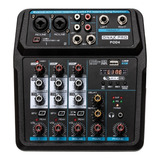 Onaxpro Pod4 Consola Sonido Interface Streaming  Podcast Usb