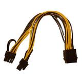 Cable Adaptador Splitter 8 Pin A 2x Pcie 8 Pin (6+2) Minería