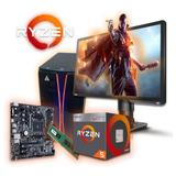 Pc Completa Gamer Amd Ryzen 5 2400g 1tb 8gb Ram W10 Cuotas