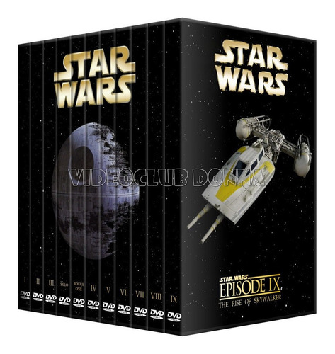 Star Wars Saga Completa Pack 11 Peliculas Colección En Dvd