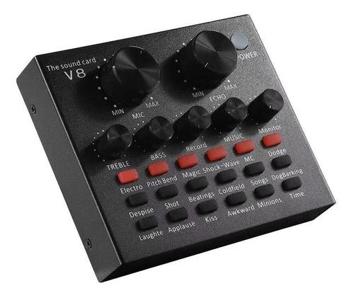 Tarjeta Sonido Usb Mezclador Interfaz Audio Stream En Vivo