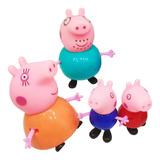 Peppa Pig Familia Completa 6 Muñecos George Pepa Mamá Juego