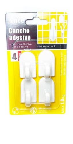 Gancho Adhesivo 25x40mm 4 Unidades