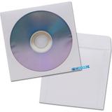 Sobre Papel Ventanilla Solapa Blanco Cd Dvd Blu-ray 100 Unid