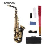 Ammoon Eb Saxofón Alto Latón Lacado Oro E Saxofón Plano 82z