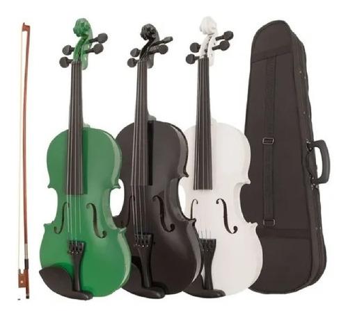 Violin Epic 4/4 Colores Con Estuche Y Acc.