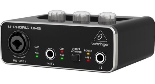 Interfaz De Grabación Behringer Um2 Interface U-phoria Um