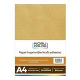 Papel Kraft Adhesivo Imprimible A4 80 Gr. 50 Hojas